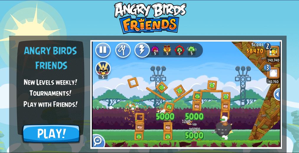 Gra Angry Birds Friends