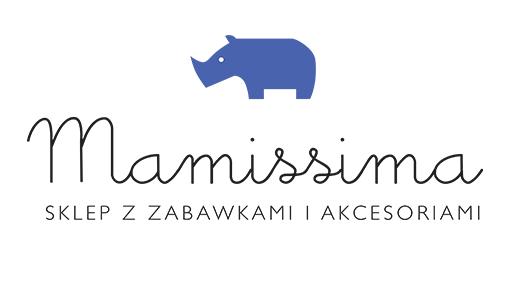 Logo sklepu z akcesoriami dla niemowląt Mamissima