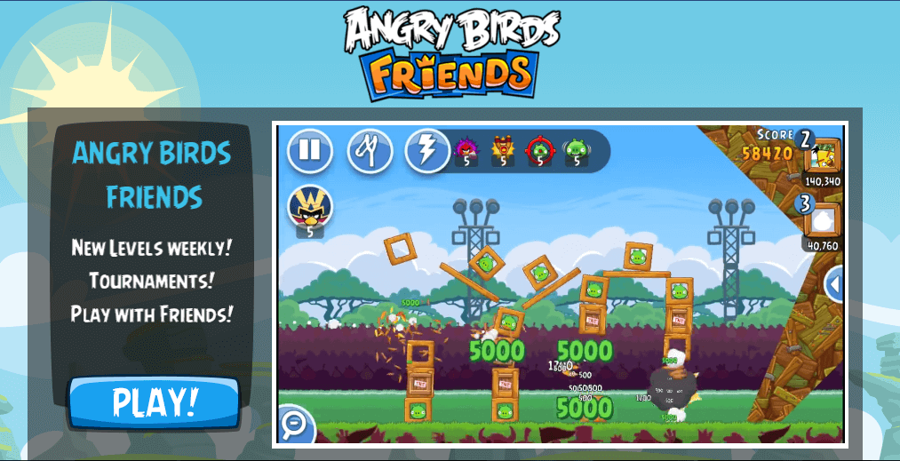 Gra Angry Birds Friends