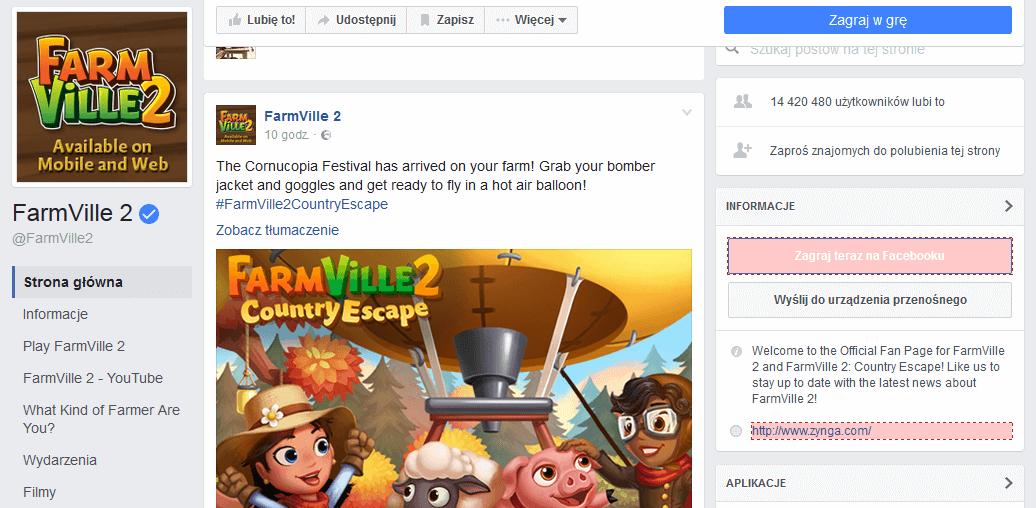 Gra FarmVille 2