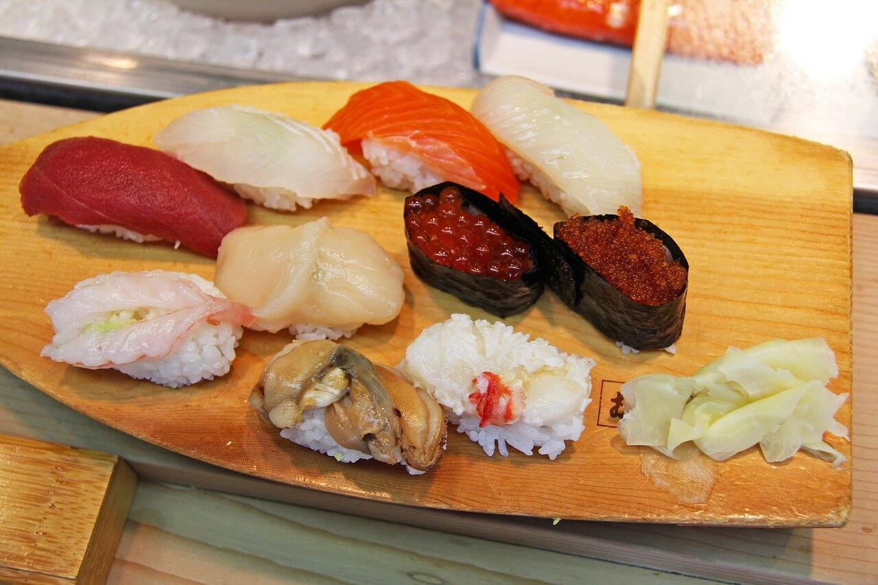 skladniki na sushi