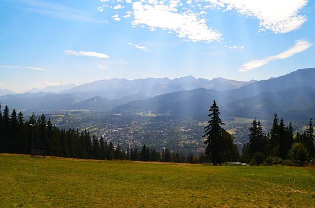 Widok na Tatry w Zakopanem