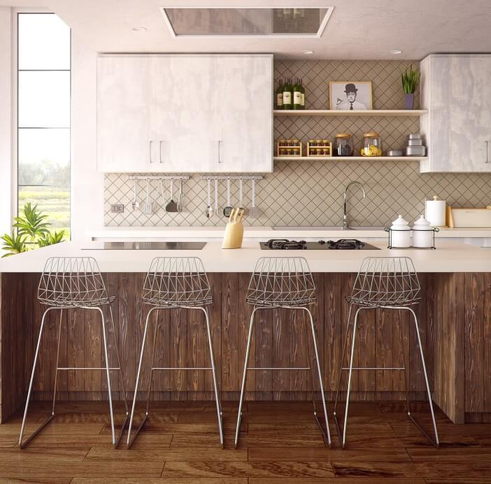 kuchnia jasna krzesla