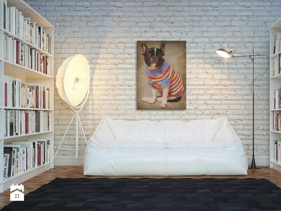 biała ściana styl skandynawski