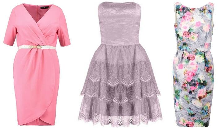 Suknie na wesele: odkryte ramiona, drapowania, falbany na sukience
