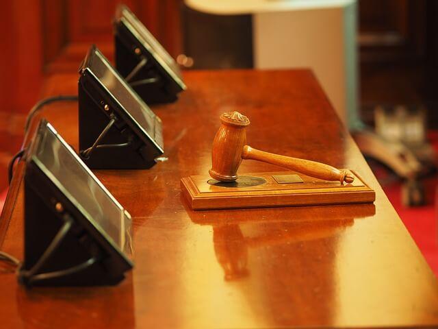 Sala sądowa przy sprawie spadkowej