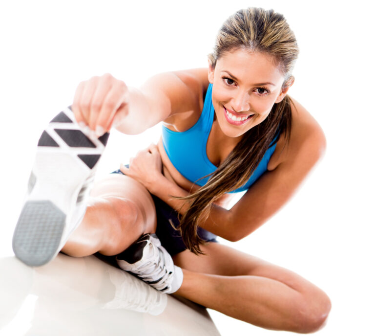 Kobieta rozciągająca mięśnie